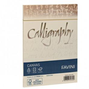 Calligraphy Canvas Ruvido Favini bianco 12x18 cm 100 g A570417 (conf.25)