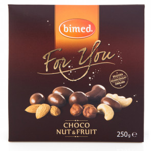 Mix frutta secca ricoperta For you choco nuts 250gr - Bimed