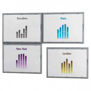 Espositore da muro A4 Paperflow 32,2x2,3x23,7 cm 4066x4.35 (conf.4)