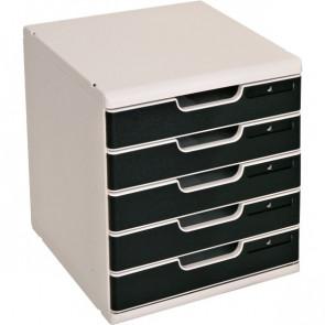 Cassettiera MODULO A4 Exacompta grigio/nero 5 cassetti 301014D