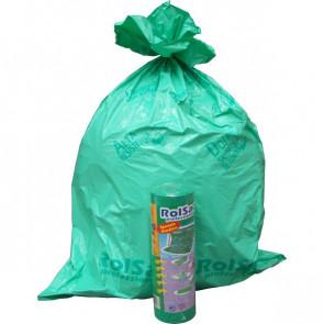 Sacchi immondizia Cagliplast 85x120cm -130l- 60µm -verde fondo piatto antigoccia- 10088 (conf.20)