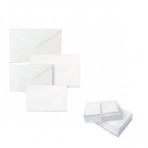 Biglietti e buste Ellebi Sadoch Dalmazia 9x14 cm bianco 8309 (conf.100)