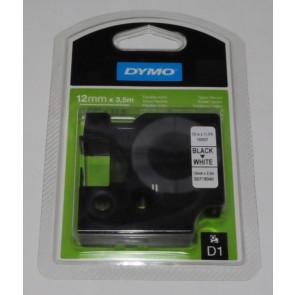 Nastro per etichettatrici Dymo D1 Nylon 12 mm x 3,5 m nero/bianco S0718040
