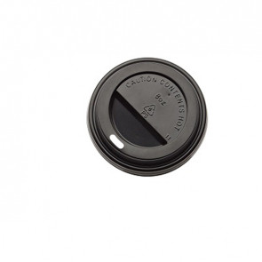 Tappo in polistirene per bicchiere da 290 ml - nero - Leone - conf. 1000 pezzi