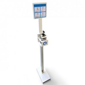 METALPLUS Piantana da terra porta dispenser da 500ml - max D 80mm