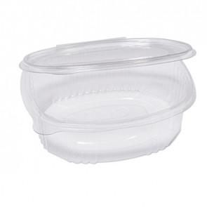 Cuki Professional Pack 50 contenitori ovali in PET con coperchio incernierato 18x15,1cm Cuki