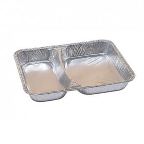 Cuki Professional Pack 100 contenitori in alluminio a due scomparti 22,67x17,66cm Cuki