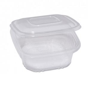 Cuki Professional Pack 50 contenitori in PP con coperchio incernierato 15,5x15,5cm H5,7cm Cuki