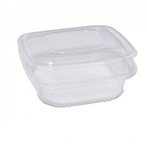 Cuki Professional Pack 50 contenitori in PP con coperchio incernierato 18,5x18,5cm H5,2cm Cuki