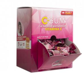 Chewing gum integratore Vitamina C - frutti rossi - C-Gum - box da 150 bustine (1 gomma cad)