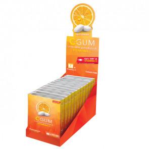 C-Gum Chewing gum integratore - per rilassamento - gusto menta e the matcha - Chewing Calm - 24 blister da 9 gomme