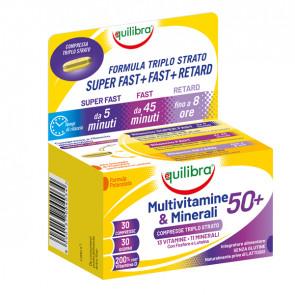 Integratore Multivitamine e Minerali 50 + - 30 compresse triplostrao (1,4 gr cad.) - Equilibra