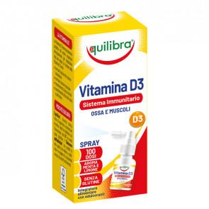 Integratore spray Vitamina D3 - sistema immunitario, ossa e muscoli - 13 ml - Equilibra