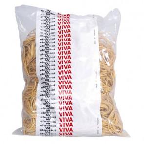 Elastici in gomma VIVA giallo diametro 80 mm Conf. 500 gr - E080-500