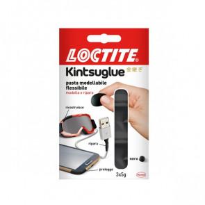 Pasta modellabile Kintsuglue Loctite nero 3x5 g 2239179 (conf.3)