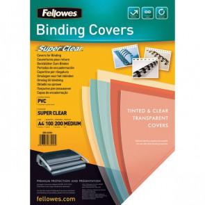 Copertine trasparenti per rilegatura Fellowes 200mic PVC 5376102 (conf.100)