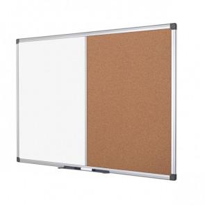 Pannello combo sughero/lavagna bianca Bi-Office 120x90 cm XA0503170