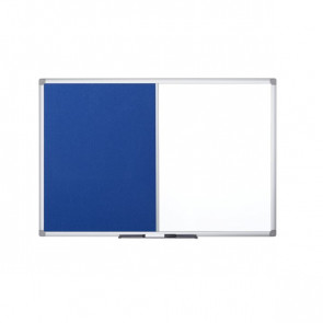 Pannello combo feltro/lavagna bianca Bi-Office 90x60 cm feltro grigio XA0322170
