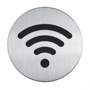 Pittogrammi in acciaio Durable rotondo ? 83 mm WiFi 4785-23