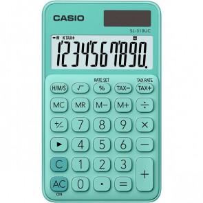 Calcolatrice tascabile SL-310UC a 10 cifre Casio verde pastello SL-310UC-GN