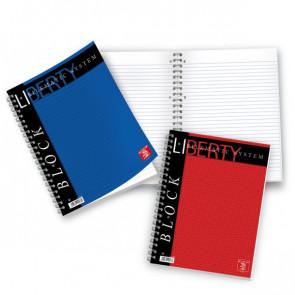 Blocchi spiralati Liberty Pigna A4 1R 80ff blu 01016511R (conf.5)