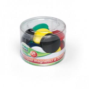 Barattolo bottoni magnetici Lebez assortiti 30 mm 2141 (conf.20)