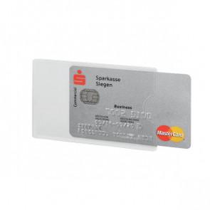 Custodia porta carte di credito RFID secure Durable 5,4x8,6 cm trasparente 8903-19 (conf.3)