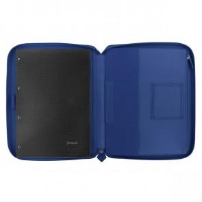 Portablocco Metropol con zip Filofax A4 320x245x26 mm blu L840014