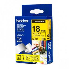 Nastri TZ Brother 18 mm nero/giallo TZ-641