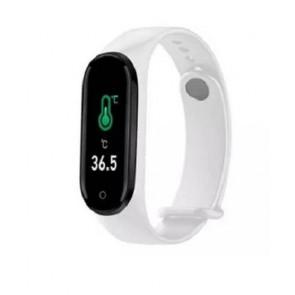 Smart Watch Orologio con RILEVAZIONE Temperatura CORPOREA,CONTA PASSI,CALO.Colore bianco