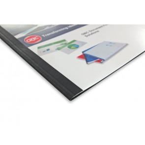 Copertine termiche per rilegatura GBC con dorso da 6 mm in pvc e cartoncino a4 nero conf da 100 copertine - IB451638