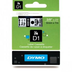 Nastri Dymo D1 9 mm x 7 m nero/trasparente S0720670 (ex 40910)