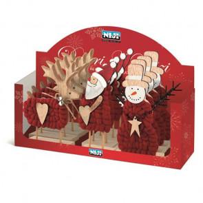 Decori natalizi assortiti in legno