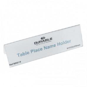 Portanomi DURABLE da tavolo polietilene trasparente inserto 61/122 x 210 mm conf. 25 - 805219