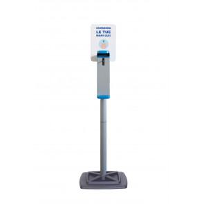 Colonna Con Dispenser A Gomito E Piantana - Acciao Verniciato F572002