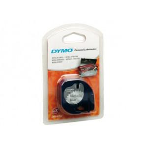 Nastri Letratag Dymo plastica argento metallizzato S0721730