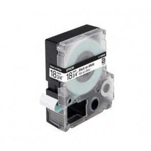 Nastro per etichettatrice LC Epson - 18 mm x 9 m - nero/bianco - C53S626404