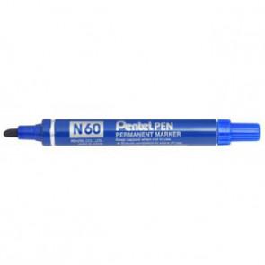 Marcatore permanente Pentel N60 punta a scalpello 3,9-5,7 mm blu N60-C
