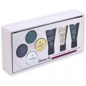 Tricoast - Set regalo per Uomo: 4pz Pastiglie effervescenti da bagno, shampoo, balsamo, lozione per il corpo