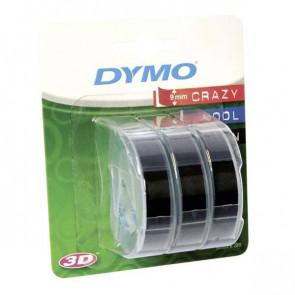 Nastri Dymo per etichettatrici a rilievo Dymo nero S0847730 (conf.3)