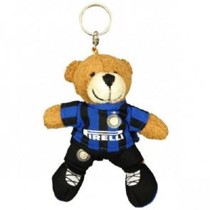 Portachiavi Orsetto 9 Cm Logo Inter Prodotto Ufficiale Idea Regalo Calcio.Giemme