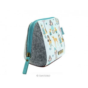Gorjuss mini trousse- porta accessorie .Traveller Woodland. Santoro.