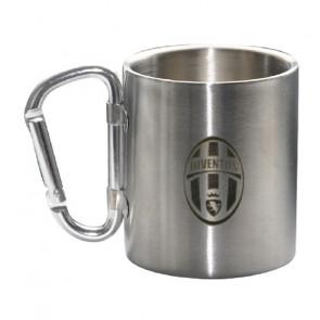 tazza mug in acciaio con moschettone. Prodotto ufficiale Juventus