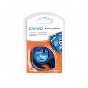 Nastro per etichettatrici Dymo LetraTag plastica 12 mm x 4 m nero/blu S0721650