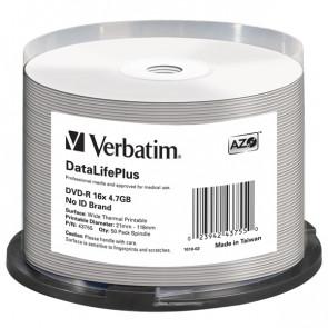 VERBATIM SCATOLA 50 Professional WIDE THERMAL PRINTABLE NO ID 16 4.7GB / 120'